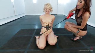 blonde punished and electrocuted