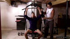sexy hunk seduces his gym trainer @ his daughter's boyfriend 3
