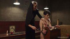 audrey has some sadistic fun with sexy nun