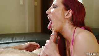 redhead goes crazy with my cock