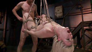 nasty slut gets fucked so hard in the sex swing