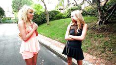 young blonde babes loving having lesbian leisure
