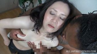 mature japanese slut sees black cock for the first time