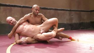 two hunks wrestle naked
