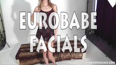 eurobabefacials skinny blonde takes big cumshot facial
