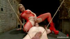 divine blonde pleases her man