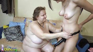 huge strapon for huge old nanny