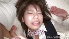 pink lips nippon chick receives cum on face