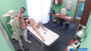 young anie sucks her doctors dick
