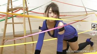 nipple pinching and fingering for ribbon girl