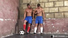 friendly football game between two guys turns into gay encounter