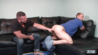 first times john and charlie fuck hard on the sofa