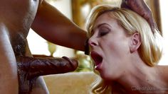 blonde milf plays with an ebony cock @ mom's cuckold #15