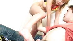 foot job and handjob from a japanese hottie