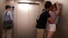 lusty couple gets dirty in elevator