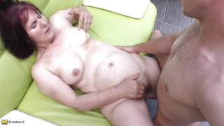 mature whore fucked on the couch