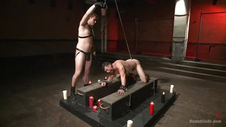 gay slave gets face fucked so hard