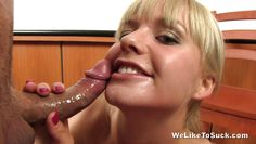 blonde babe gets what she wanted