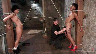 slutty nikki and mia get tied up