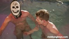 swimming, wigs, masks and hot gay sex