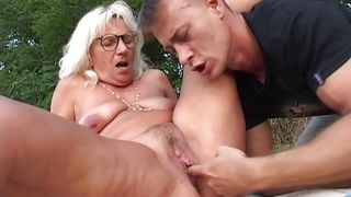 four-eyed granny gets fingered @ short sighted grannys