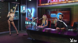 hot blonde challenged during morning show