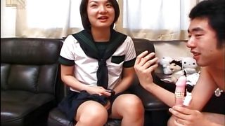 japanese slut gets pleasured by a sex toy