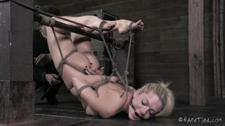 pretty blonde awaits punishment