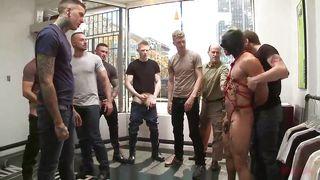 male whore likes it rough in public