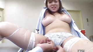 nurse slowly undressed and fingered