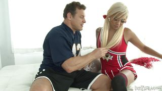 beautiful cheerleader has a surprise