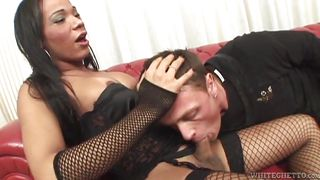 tranny gets sucked @ all time biggest transsexual cocks #06