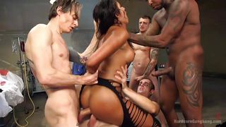 double penetration and interracial gangbang