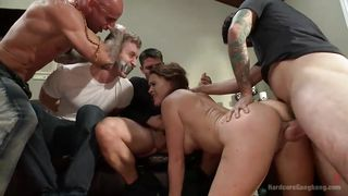 gang banged in front of her tied boyfriend
