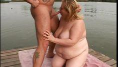 fatty sucks cock on the docks