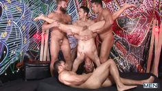 group of horny boys having fun