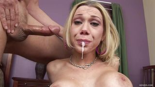 samantha gags on thick cock