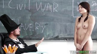 lucky master fucks schoolgirl in the classroom