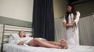 busty shemale doctor rims and fucks her patient