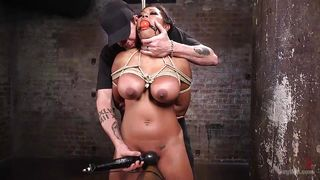 busty latina in painful torture
