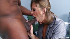 milf whore takes big black cock