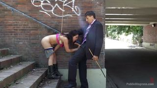 naughty juliette gets humiliated on the street
