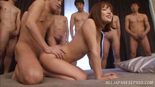 japanese whore can't get enough cock in her bum