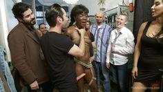 ebony babe disgraced in public