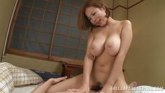 big breasted japanese slut rides her man's cock