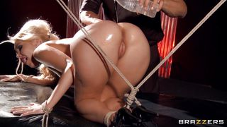 tied up delicious blonde massaged
