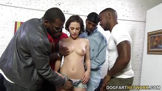 interracial gangbang and dp with nikita bellucci