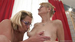 old sluts suck and lick each other @ my grandma's a lesbian #03