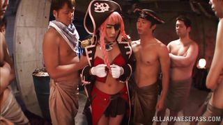 horny pirate lady gets banged