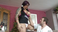 chunky tranny plays hard @ transsexual cheerleaders #12